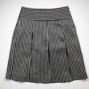 J. Crew Collection Striped Silk Knee Length Skirt